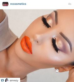 Loooove this look by@amrezy It's a red lip day!... Www.rc-cosmetics.com