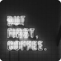 Then read the article about the coolest cafes in LA. Tiles neon lights and huge coffees. (BTW there should be a big take away coffee emoji) by audreycayon Neon Licht, Design Café, Cafe Design, Interior Design, Neon Quotes, I Love Coffee, Coffee Quotes, Coffee Humor, Neon Lighting