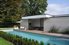 House VGL in Belgium by vlj-architecten - poolhouse