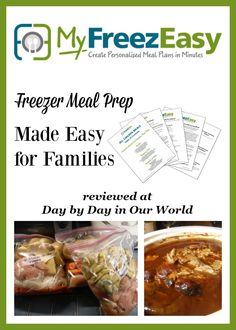 Do you dread the dinner hour and pulling a meal together for the family? It happens in my house at least once a week. MyFreezEasy is a great resource to help me stock the freezer and make dinnertime less stressful.   Come on over to learn more about it and how it worked for us. via @LauraOinAK