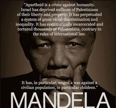 Nelson Mandela on Israeli apartheid & the Palestinian people