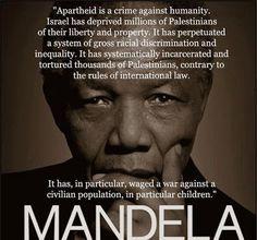 Nelson Mandela on Israeli apartheid & the Palestinian people
