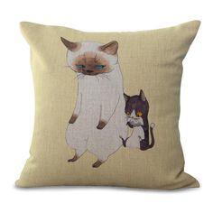 Table & Sofa Linens Creative Schnauzer Bull Terrier Dog Rint Cushion Cover High Quality Linen Pillowcase Dropshipping Home Textile