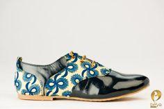 Les chaussures derbys de Belya fait par la main en le par belyashop, $100.00