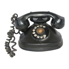 Pre-Owned 1930s Bakelite Stromberg-Carlson Phone (94 BHD) ❤ liked on Polyvore featuring home, home decor, black, decorative accessories and black home decor