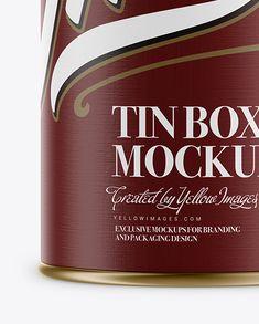 Metallic Storage Jar With Paper Label Mockup – Front View