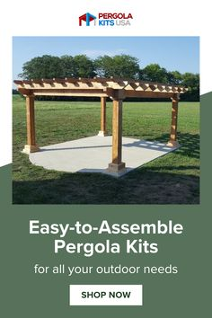 Enjoy your backyard all year long with our custom pergola kits. They come ready-to-assemble and made to fit your outdoor space perfectly! Outdoor living has never been easieror more fun! Backyard Retreat, Backyard Pergola, Cedar Pergola Kits, Red Cedar Lumber, Western Red Cedar, Get Outdoors, Pergola Designs, Outdoor Entertaining, Outdoor Living