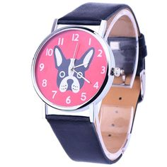 French Bulldog Quartz Fashion Watch