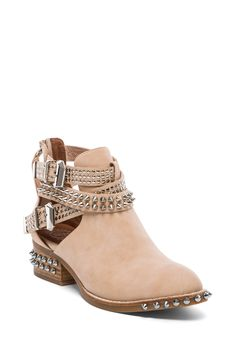 Jeffrey Campbell Everly Embellished Boot in Beige Washed