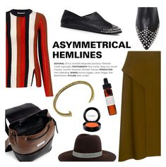 """""""ASYMMETRICAL HEMLINES"""" by ifchic ❤ liked on Polyvore featuring 10 Crosby Derek Lam, TIBI, McQ by Alexander McQueen, Carven, Giles & Brother, Janessa Leone, MAC Cosmetics, Pamela Love and contemporary"""
