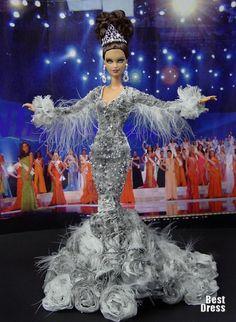 Barbie Miss Altay Ninimomo Barbie Miss, Barbie And Ken, Barbie Gowns, Barbie Clothes, Miss Pageant, Manequin, Beautiful Barbie Dolls, Black Barbie, Little Doll