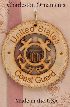 US COAST GUARD Ornament - Coast Guard Ornaments - Coast Guard Gift - Coast Guard Gifts - Coast Guard Decor - Military Gifts
