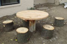 The Log Table with Stump Seats is designed to be an all natural table for your outdoor preschool classroom. The table top is made out of natural cedar and the table post is made out of a log. The 4 seats are made from tree stumps. This all natural playground table is perfect for all kinds of activities. It can be used for writing activities, manipulatives, snack time, lunch or just a place to sit and observe or socialize with friends. Add the table to an outdoor kitchen area as a natural…