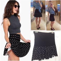 TOPSHOP Polka Dot Skirt Polka dot skirt. England size 10, which is the equivalent in of a 4 here Topshop Skirts