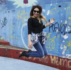 Camisa Xadrez Look http://www.dicasdeamiga.com/2014/04/meu-look-jeans-e-camisa-xadrez.html