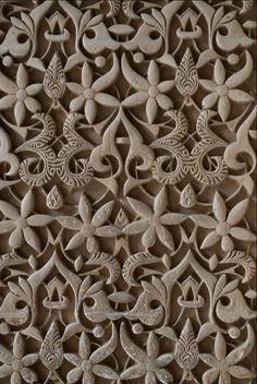 Decoración en Ataurique. Alhambra de Granada