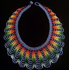Collar de abalorios / Mandala de cuentas trabajo por TRIBALMUNAYA