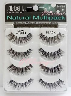 (4 Pairs) Ardell DEMI WISPIES NATURAL MULTIPACK False Eyelashes Fake Lashes Lot in False Eyelashes & Adhesives | eBay
