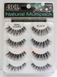 (4 Pairs) Ardell DEMI WISPIES NATURAL MULTIPACK False Eyelashes Fake Lashes Lot in False Eyelashes & Adhesives   eBay