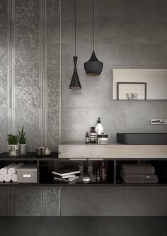 Piastrelle: Collezione Haus da Edilcuoghi Double Vanity, Home Furnishings, Toilet, Conference Room, Bathroom, Design, Interiors, Furniture, Home Decor
