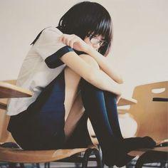 #girl #cute #summer #student #sailor #uniform #school #skirt #JK #japan #teen #glasses #chair #classroom #女子高生 #制服 #セーラー服 #かわいい #眼鏡 #眼鏡っ子 #かわいい #教室