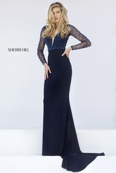 Shop RaeLynn's Boutique for Sherri Hill 2020 prom dresses, pageant dresses, and formal evening gowns for special occasions. Navy Prom Dresses, Gorgeous Prom Dresses, Sherri Hill Prom Dresses, Designer Prom Dresses, Cheap Prom Dresses, Pageant Dresses, Beautiful Gowns, Pretty Dresses, Formal Dresses