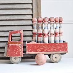 Antique Wooden Skittles | by Petits Détails