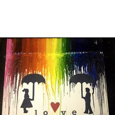 my first crayon art project