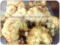 Homemade Batter dipped fried cauliflower