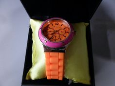 Jules & James Orange Women's Watch with gold and pink  (JJ1149), $50 Value!