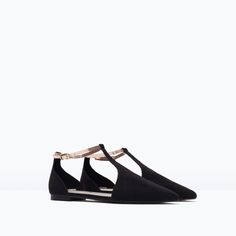 ZARA - SHOES & BAGS - ANKLE-STRAP FLATS