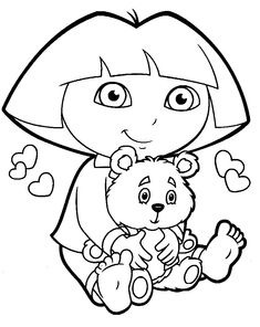 Dora Coloring Pages Pdf. Dora coloring page and perfect color in coloring page. Coloring Pages Dora. Get creative and color these Dora the Explorer coloring pages for kids. Nick Jr Coloring Pages, Cartoon Coloring Pages, Disney Coloring Pages, Christmas Coloring Pages, Coloring Pages To Print, Free Printable Coloring Pages, Colouring Pages, Free Printables, Dora Coloring