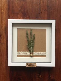 Rosemary. Küchendeko. Bilderrahmen. Kräuter. Frame, Home Decor, Cash Gifts, Picture Frames, Homemade, Make Your Own, Handmade, Tutorials, Creative