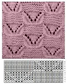 Knitting Patterns Free Baby Loom 64 New Ideas Baby Knitting Patterns, Lace Knitting Stitches, Knitting Charts, Easy Knitting, Knitting Designs, Stitch Patterns, Crochet Patterns, Loom Knitting, Knitting Room