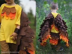 Bird-wing-costume - make it simpler with less feather - use a long sleeve shirt