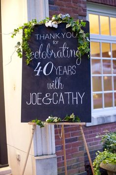 my parents' anniversary party — Magnolia Thymes Anniversary Chalkboard Anniversary Party Decorations, Wedding Anniversary Celebration, Parents Anniversary, 40th Anniversary, Golden Anniversary, Anniversary Message, Anniversary Photos, Anniversary Chalkboard, Friends