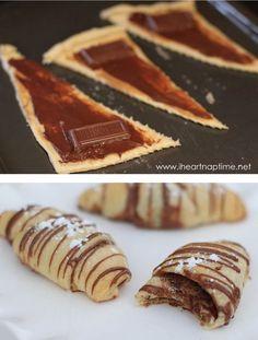 Croissants au Nutella | Les meilleures recettes faites avec du Nutella