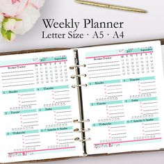 Editable Weekly Planner Template PDF, Weekly Planner Printable PDF, Schedule Template Printables, Blank Week, Letter A5 A4, Instant Download https://www.etsy.com/listing/516191262