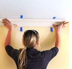 Crown moulding easy way to install crown moulding