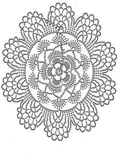 Watch The Video Splendid Crochet a Puff Flower Ideas. Phenomenal Crochet a Puff Flower Ideas. Crochet Doily Diagram, Crochet Flower Patterns, Crochet Chart, Thread Crochet, Crochet Motif, Crochet Designs, Crochet Lace, Crochet Stitches, Bead Patterns