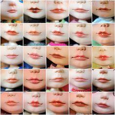 2012 Custom Blythe Lips (Julia Cabral Dolls) Tags: mouth carved dolls mosaic makeup lips blythe custom faceup custombyme juliacabral juliacabraldolls