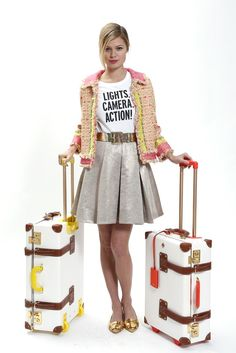 Kate Spade Pre-Fall 2013; that t-shirt and those suitcases!