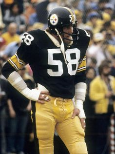 Jack Lambert - Pittsburgh Steelers.  Love him so much I amy pin it twice!  Proud to be a 'Burg chick!