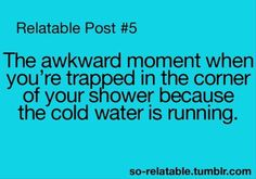 Not all people don't like cold showers! I absolutely love cold showers, comment if you like them too please!