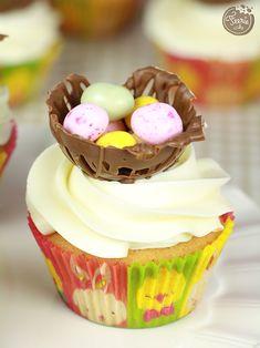 cupcakes de pâques nid d'oeufs