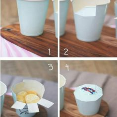 66 Ideas for diy paper cup christmas gifts Cookie Packaging, Gift Packaging, Smart Packaging, Homemade Gifts, Diy Gifts, Diy Paper, Paper Crafts, Diy And Crafts, Crafts For Kids