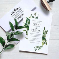 organic wedding stationery