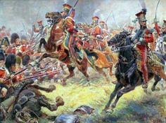 Dutch Lancers at Waterloo. Click on image to ENLARGE.