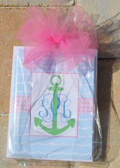 Nautical Anchor Monogram Note Cards on Etsy, $15.00