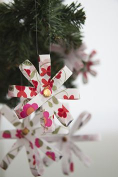 No Sew Ornament Option (could also be done with paper)